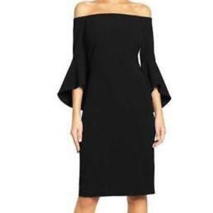 Chelsea28 off the shoulder black dress